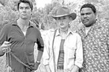 Jerry O'Connell, Estella Warren and Anthony Anderson in Kangaroo Jack