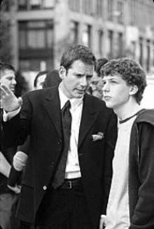 Campbell Scott and Jesse Eisenberg in Roger Dodger