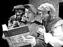 Corey Jones, Bradley Calise and Michael Bowdern in The Compleat Wks of Wllm Shkspr (Abridged)