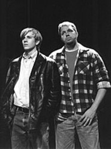 CORY  WEAVER - David Schroeder and Matt Kohler portray Matthew Shepard's killers.
