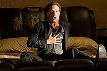 Scared single: Matthew McConaughey as Connor Mead in Ghosts of Girlfriends Past.