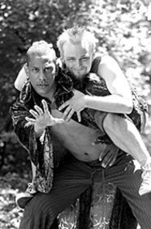 Reuben Jackson (left) as Oberon and James David Hart as Puck