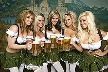 Oktoberfest celebrates traditional German, uh, culture.