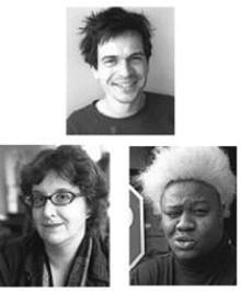 Clockwise from top: Galen Gondolfi, Pierre Wright and Joan Lipkin