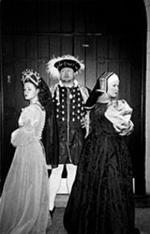 Molly Comer, Tom Murray and Laura Lee Kyro in Historyonics' Court of Two Wives