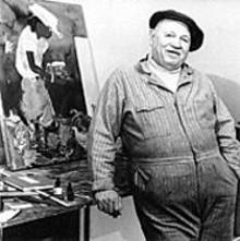 Fern Logan's portrait of Romare Bearden