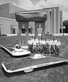 The Rolla team with Solar Miners II and III (foreground)