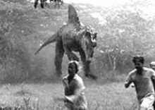 Ta Leoni and William H. Macy in Jurassic Park III