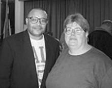 D.J.  WILSON - Z. Dwight Billingsly (left) and Jeanette Mott Oxford