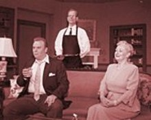 Dorothy F. Davis stars in Noel Coward's Relative Values, an old-fashioned drawing-room comedy.