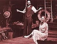 Geoffrey Cantor and Kelly McAndrew in the Rep's enchanting Talley's Folly.