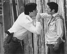 Good cops, bad cops: Benicio Del Toro (left) and Jacob Vargas can't always tell which side they're on.