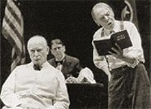 SANDY  UNDERWOOD - Joneal Joplin (left) and Philip Pleasants in the Rep's Inherit the Wind