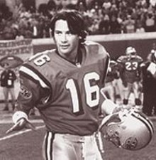 Keanu Reeves in The Replacements, the hack's Any Given Sunday