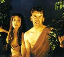 Karen Klaus and Jim Ousley in Planet of the Apes: Live!