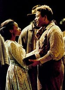 PHOTO ©2000 BY KEN HOWARD - Christina Clark as Treemonisha and Nathan Granner as Remus in Scott Joplin's Treemonisha
