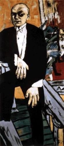"Max Beckmann, ""Self-Portrait in Tails,"" 1937"