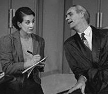 Candace Flynn and David Gibbs in The Man Who Came to Dinner