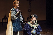 JERRY NAUNHEIM JR. - Tarah Flanagan and Kevin Orton in the Rep's Saint Joan.