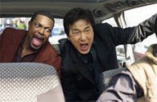 Chris Tucker and Jackie Chan offer backseat advice in Rush Hour 3.