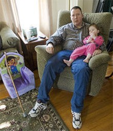 """JENNIFER SILVERBERG - Veteran Phillip Baldwin (with daughter Isabel): """"If you have  any other options, don't go to John Cochran hospital."""""""