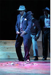 STEWART GOLDSTEIN - Smooth operator: Gary E. Vincent as Nathan Detroit in the Black Rep's Guys and Dolls.