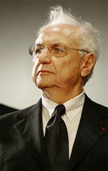 RAFA RIVAS/AFP/GETTY IMAGES - Famed architect Frank Gehry can take a joke? That's news to us.