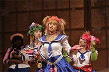 KEN HOWARD - Pretty maids all in a row: (left to right) Kirsten Forrest Leich, Katherine Jolly and Alison Tupay in The Mikado.