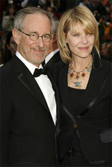 RUSS EINHORN/SPLASH NEWS - Close encounters: Steven Spielberg and wife Kate Capshaw at the Academy Awards in February.