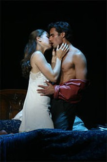 JOAN  MARCUS - Light and heat: David Burnham (right) as Fabrizio - and Elenda Shaddow (left) as Clara.