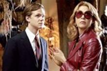 Cut-ups: Joseph Cross (left) and Annette Benning.
