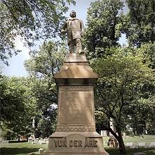 JENNIFER SILVERBERG - No. 33. Bellefontaine Cemetery. The grave of Chris von der Ahe.