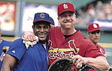 THE SPORTING NEWS/ZUMA PRESS - Sammy Sosa and Mark McGwire in much happier times.