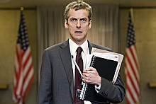 War is hilarious: Peter Capaldi as Malcolm Tucker in Armando Iannucci's In the Loop.