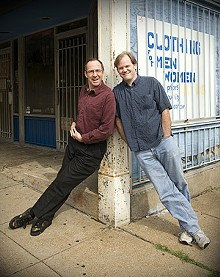 JENNIFER SILVERBERG - Improv Tricksters Marc Pruter (left) and Doug Golden (right).