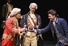 JERRY NAUNHEIM JR. - Jim Poulos as Mozart, Joe Hickey as Emperor Joseph II and Andrew Long as Salieri.