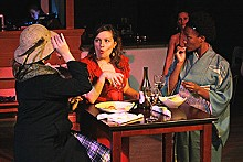 DAVID MITCHELL - Dianna Thomas, Rachel Tibbetts, Margeau Baue Steinau and Erin Roberts in Top Girls.