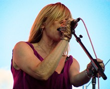ANNIE ZALESKI - Sonic Youth's Kim Gordon performs at Live on the Levee.