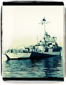 COURTESY ROBERT O'BRIEN - Launched in 1944, the Inaugural participated in the bloody fight for Okinawa.