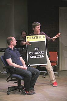 JERRY NAUNHEIM JR. - Benjamin Howes and Ben Nordstrom in [title of show] at the Rep.