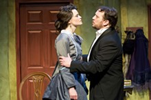 JOHN LAMB - House and home: Julie Layton and R. Travis Estes in A Doll's House.
