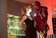 FRANCOIS DUHAMEL - Iron age: Gwyneth Paltrow and Robert Downey Jr. in Ironman 2.