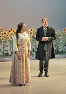 KEN HOWARD - Dina Kuznetsova as Tatiana and Christopher Magiera in the title role in Eugene Onegin.