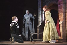 J. DAVID LEVY - Meant to be: Jim Butz, Rob Krakovski and Deanne Lorette in Hamlet.