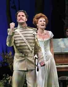 KEN HOWARD 2010 - Lee Gregory as Count Carl-Magnus Malcolm and Erin Holland as Countess Charlotte Malcolm in Opera Theatre of Saint Louis's 2010 production of A Little Night Music.