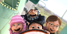 UNIVERSAL PICTURES AND ILLUMINATION ENTERTAINMENT - Kids' fun: Edith (Dana Gaier), Gru (Steve Carell), Agnes (Elsie Fisher) and Margo (Miranda Cosgrove) take a wild ride.