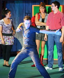 Curtis Holbrook in the Muny's production of FootLoose