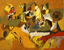MILDRED LANE KEMPER ART MUSEUM, WASHINGTON UNIVERSITY IN ST. LOUIS. - Arshile Gorky, Golden Brown Painting, 1943-44. Oil on canvas, 43 13/16 by 55 9/16 inches.