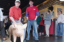 JENNIFER SILVERBERG - Hog heaven: Pappy's Smokehouse partners John Matthews (left) and Brian Scoggins