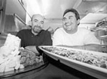 JENNIFER  SILVERBERG - Steve Saffa, Spaghetteria executive chef, and Pepe Kehm, chef and owner